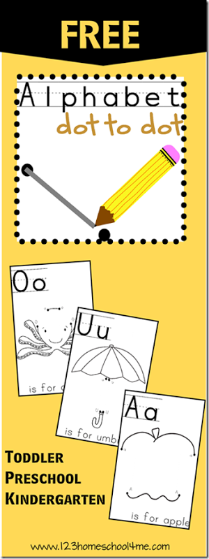 Free Alphabet Dot-to-Dot Worksheets - Thrifty Homeschoolers