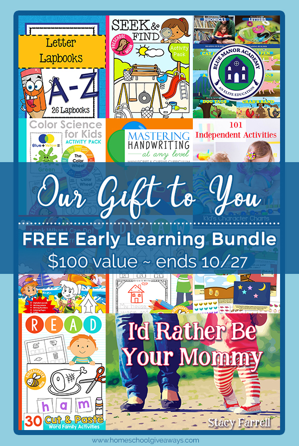Saving money has never been easier! For one week only, you can get this Early Learning Bundle absolutely FREE! Hurry...offer ends 10/27/17 at 11:59pm EST! :: www.thriftyhomeschoolers.com