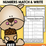 Fall Numbers Match & Write Freebie