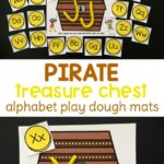 Free Pirate Themed Alphabet Playdough Mats
