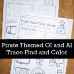 "Free No-Prep ""oi"" and ""ai"" Pirate Themed Printables"