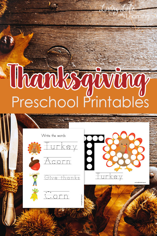 These Thanksgiving Preschool Printables would be perfect for some light schoolwork while you prepare for your family meal later in the week! :: www.thriftyhomeschoolers.com