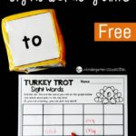 Turkey Trot Sight Word Game