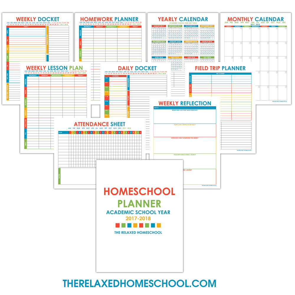 Shocking image intended for free homeschool planner printable