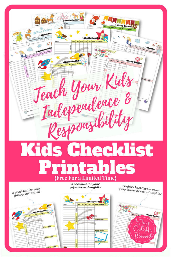 Do you want your kids to become more responsible and independent with their chores? These adorable printable checklists are sure to help! :: www.thriftyhomeschoolers.com