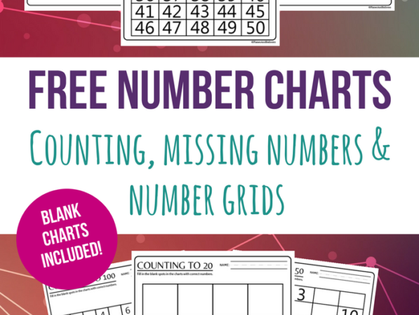 Free Counting to 100 Number Charts