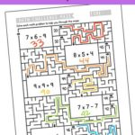 Free Printable Multiplication Mazes