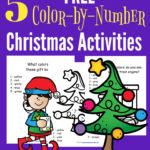 Free Elf Color-by-Number Printables