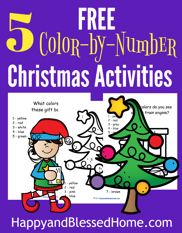 These printable Elf Color-by-Number pages are perfect to get you in the holiday spirit or just for fun! :: www.thriftyhomeschoolers.com