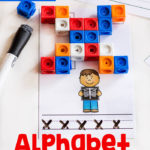 Printable Alphabet Snap Cube Mats