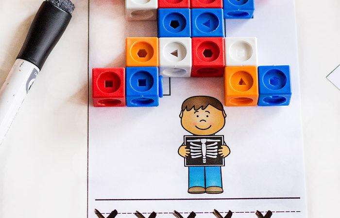 Printable Alphabet Snap Cube Mats