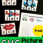 CVC Picture Puzzles Freebie
