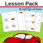 Free Car Worksheets for Preschool & Kindergarten