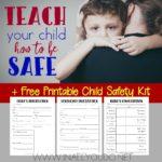 Free Printable Child Safety Kit