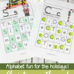 Free Christmas-Themed Alphabet Hunts