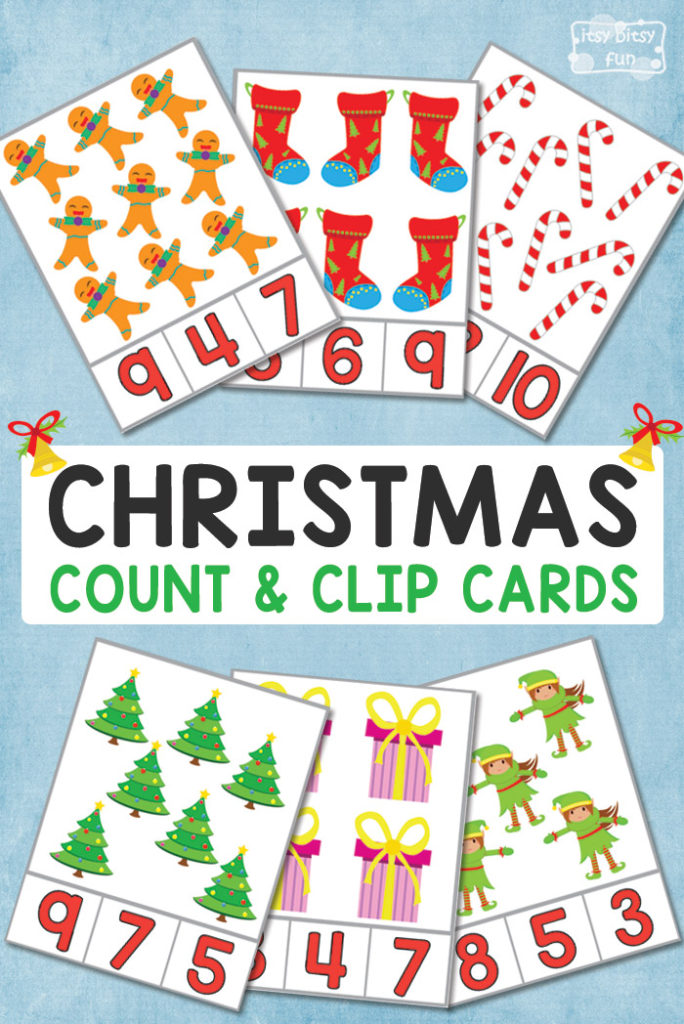 If you have a little one working on counting and fine motor skills, these printable Christmas themed clip cards are a must-have! :: www.thriftyhomeschoolers.com