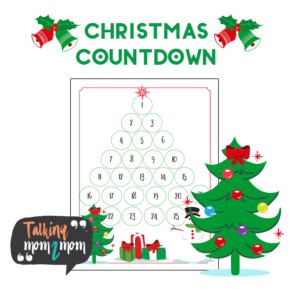 Where In The Bible Does It Talk About Christmas Trees: Free Christmas Tree Countdown Printable