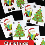 Free Christmas Letter Matching Cards