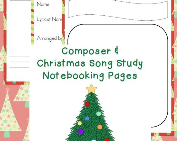 Free Christmas Music & Composer Notebooking Pages