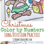 Free Christmas Color by Number – Division