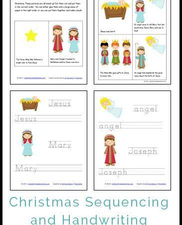 Free Christmas Mini Book and Handwriting Printables