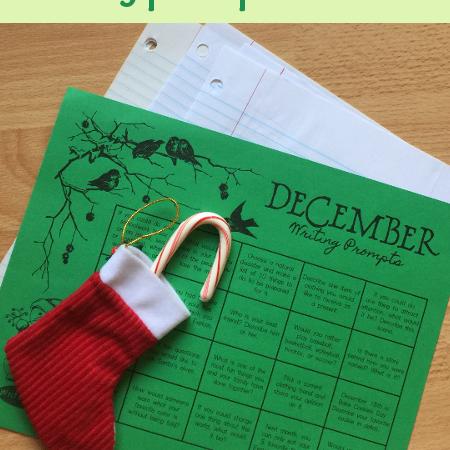 Free December Writing Prompt Calendar