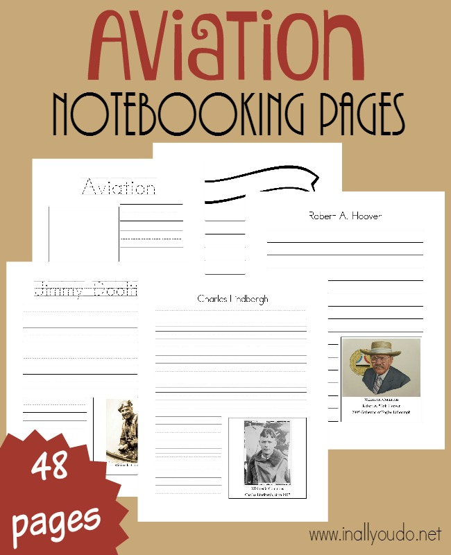 Kids can learn all about the Top 10 Aviators with these FREE Aviation Notebooking Pages. :: www.thriftyhomeschoolers.com