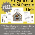 Pilgrim's Mini Puzzle Unit Freebie