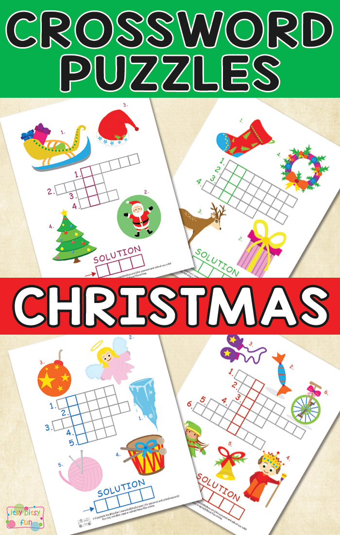 Free Christmas Crossword Puzzles - Thrifty Homeschoolers