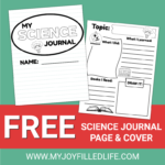Free Science Journal Page & Cover