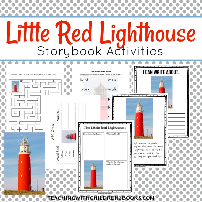"This pack based on the book, ""The Little Red Lighthouse"", contains activities for counting, vocabulary, puzzles and more! :: www.thriftyhomeschoolers.com"