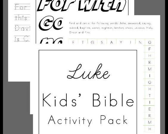 Free Luke Kids' Bible Activity Pack