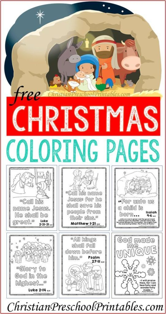 Luke 2:11 Bible Verse Coloring Page – Children's Ministry Deals | 1024x542