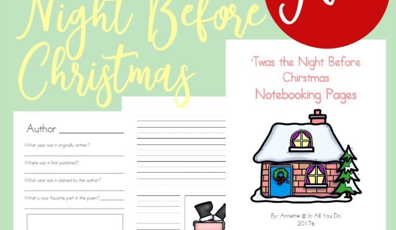 Free 'Twas the Night Before Christmas Notebooking Pages