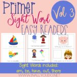 Free Primer Sight Word Readers – Vol 3