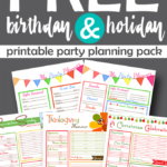 Birthday & Holiday Printable Planning Pack Freebie