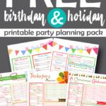 Birthday & Holiday Printable Planning Pack Freebie