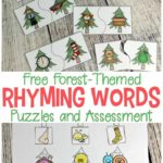 Free Forest-Themed Rhyming Words Puzzles