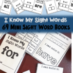 Free Sight Word Mini Booklets
