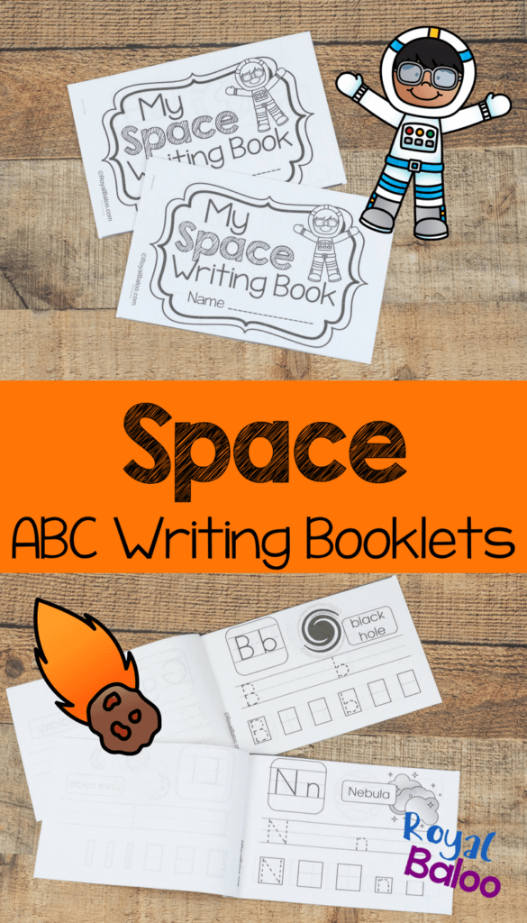 This Space ABC Writing Booklet is perfect for little ones learning more about space & working on their letters! :: www.thriftyhomeschoolers.com