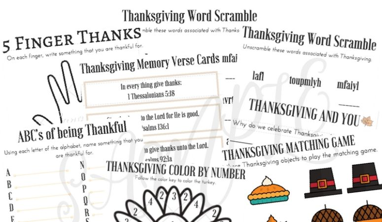 Limited Time Freebie: Thanksgiving Kids' Activity Bundle