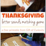 Thanksgiving Letter Sounds Matching Game Printable