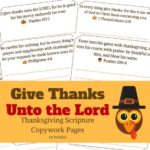 Free Thanksgiving Scripture Copywork