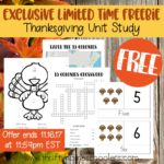 Exclusive Limited Time Freebie: Thanksgiving Unit Study