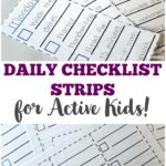 Free Daily Checklist Strips for Kids