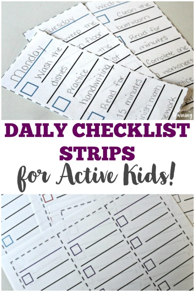 Do your kids need a checklist to help them stay on task and focused? These printable checklist strips are perfect for rotating school schedules, chores and more! :: www.thriftyhomeschoolers.com