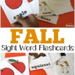Free Fall Sight Word Flashcards