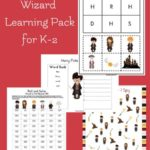 Free Harry Potter Inspired Wizard Learning Pack (K-2)