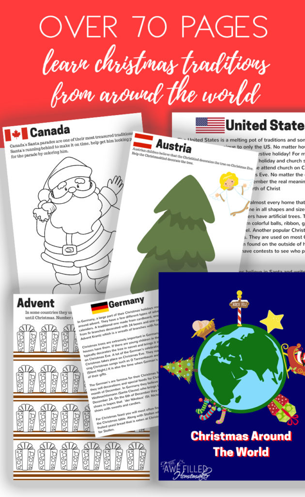 """Are you looking for a fun and unique Advent Study to do with your family this year? Learn more about & enter for your chance to win a digital copy of """"Christmas Around the World""""! :: www.thriftyhomeschoolers.com"""