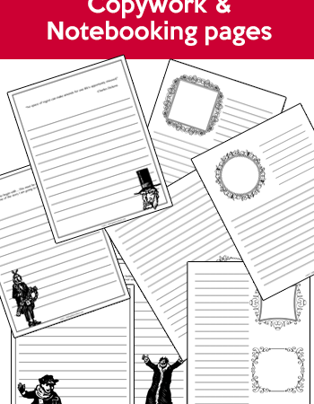 """Free """"A Christmas Carol"""" Copywork & Notebooking Pages"""